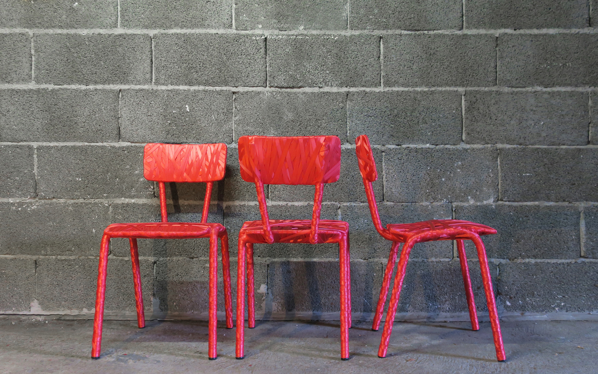 Chaise Formica Rouge 1